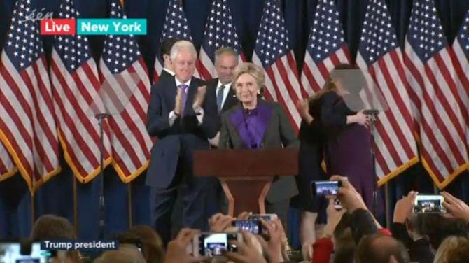 """Clinton: """"Ooit zal iemand het hoogste glazen plafond breken, hopelijk sneller dan we denken"""""""