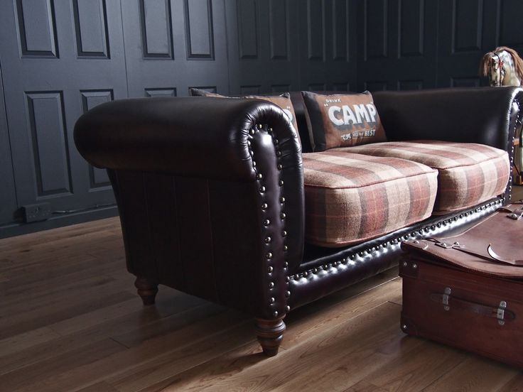 Re Upholstered Sofa Plaid Leather Spacialise Com About
