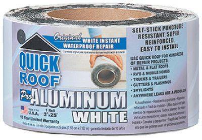 "Cofair WQR325 White 3""X25' Quick Roof Tape"