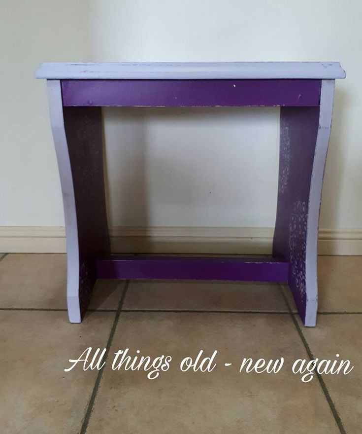Cute little retro stool given a great shabby upcycle - SOLD