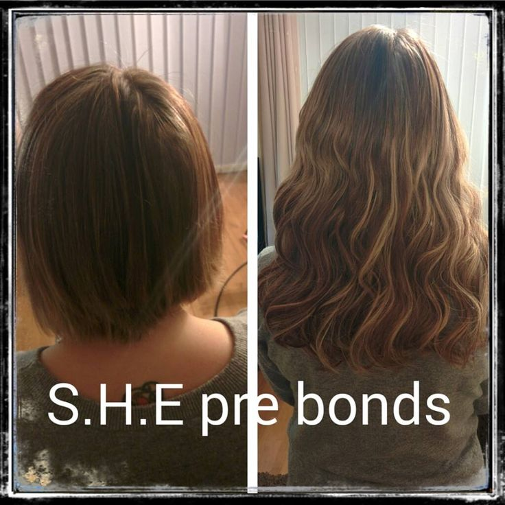 Pre Bonded Hair Extensions Before And After