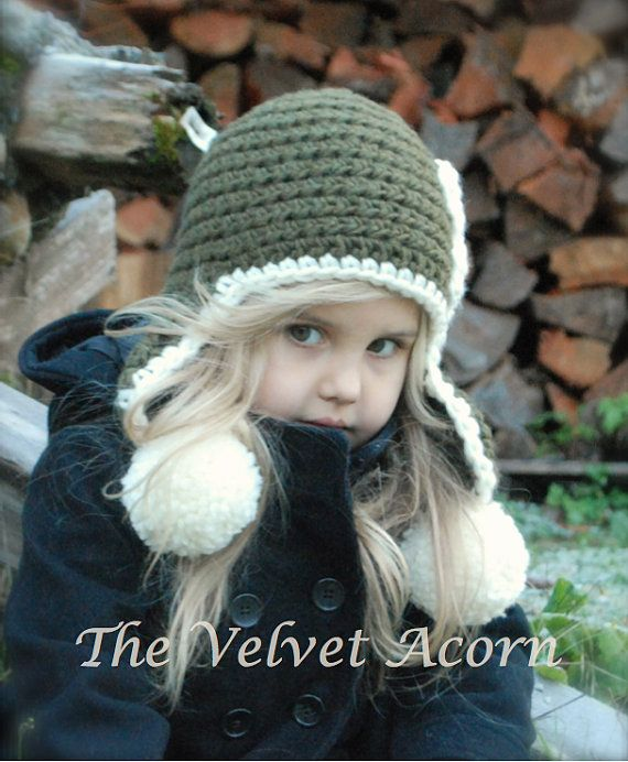 Crochet PATTERN-The Wynter Hat Toddler Child and by Thevelvetacorn