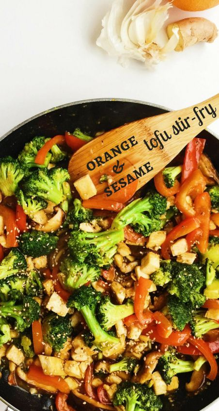 This Orange Sesame Tofu Stir-Fry is a simple and tasty vegetarian meal. A flavorful, easy-to-make orange-sesame sauce comes together in just minutes.
