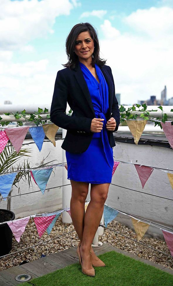 Lucy Verasamy ITV Weather dress Amazon party