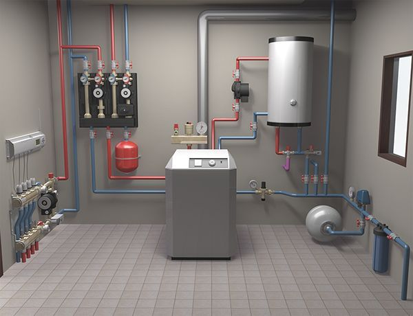 3d Model Of In House Heating System On Behance Padlo Home Heating Systems House Heating Floor Heating Systems