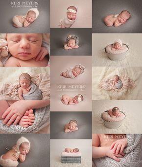 Newborn Photo Shoot Ideas, Pink and Gray Newborn Session, Macro Photography, Newborn Poses, Baby Photo Shoot Ideas, Phoenix Newborn Baby Photographer, Keri Meyers Photography, www.kerimeyersphotography.com