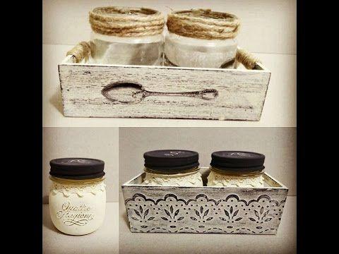 Tarros de cristal y cajas de madera decorados - colaboración con MYBA - YouTube