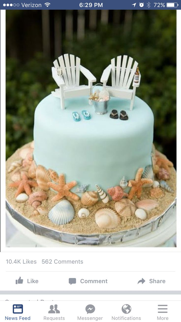 Beach Themed Cakes And Cupcakes