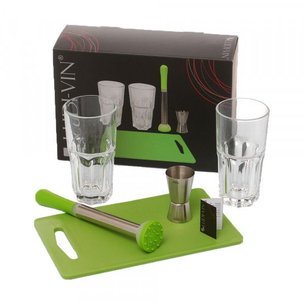 Ambiance & Styles | Coffret cocktail Mojito 5 pièces #ambiance #style #cocktails #mojitos #greenstyle #fun #cool