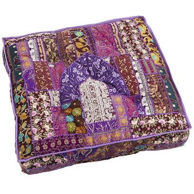 Floor Pillows Pier One : Sari Patch Floor Cushion - Purple I Love Pier 1 Pinterest Floor Cushions, Saris and Cushions