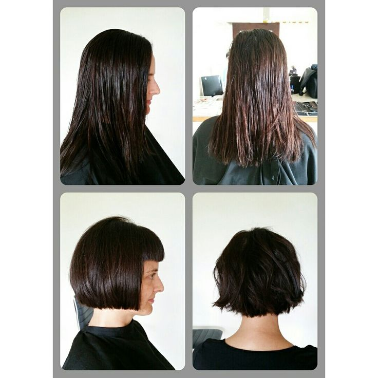 Before & After  #brown #bob #solid