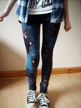 Galaxy Leggings galaxy print leggings :)