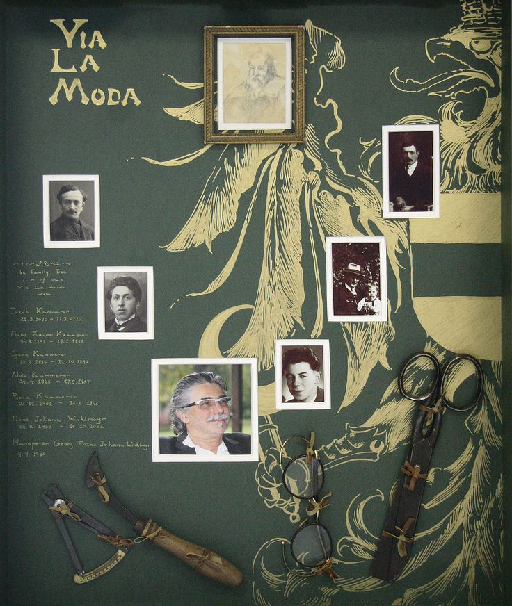 Hanspeter Winklmayr family frame  #vialamoda #winklmayr www.vialamoda.com