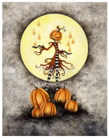 """Pumpkin Magick"" Artist Amy Brown"