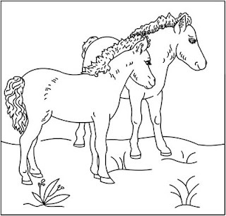 nicoles horse coloring pages - photo#2