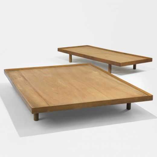 Charlotte Perriand, Oak Daybeds for Galerie Steph Simon, 1959.