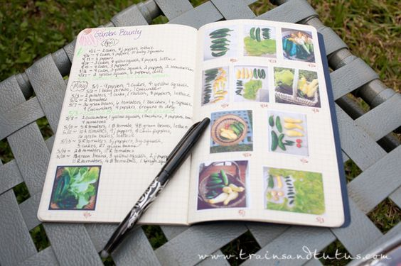 Making a Garden Journal - like the pictures printed on sticker paper idea.