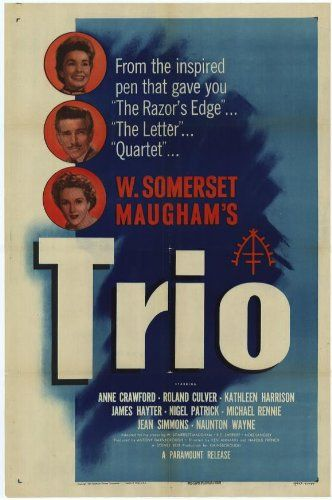 Trio Movie Poster (27 x 40 Inches - 69cm x 102cm) (1950) -(James Hayter)(Kathleen Harrison)(Felix Aylmer)(Lana Morris)(Michael Hordern)(Glyn Houston) Trio Poster (27 x 40 Inches - 69cm x 102cm). The Amazon image is how the poster will look; If you see imperfections they will also be in the poster. Full Size Movie Poster; Same Size That You See In The Theater. Size is provided by the manufacturer a... #MGPoster #Home