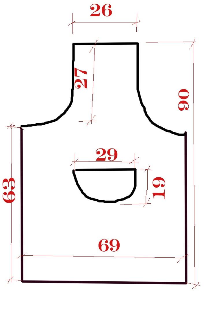 Medidas avental de cozinha