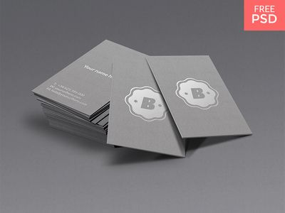Silver Business Card Mockup