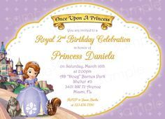Princess Sofia Birthday Invitations Ideas | BagVania Invitations Ideas