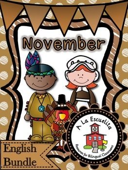November includes Native Americans, Pilgrims, Thanksgiving and Veterans Day