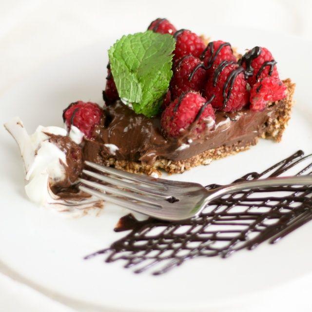 Healthy Raspberry Chocolate Pie