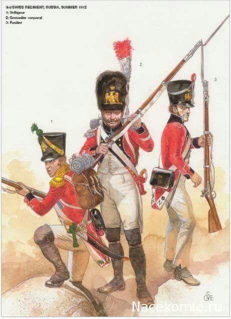 3° Rgt. Voltigeur granatiere fante 1812