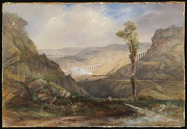 Conrad MARTENS, (Viaducts on the descent to the Lithgow Valley) 1873