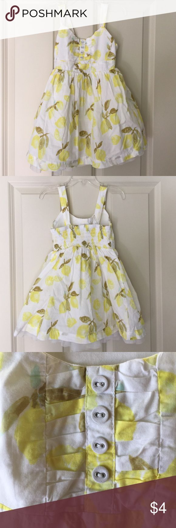 Lemon dress, Bundle for @dadl: Cherokee brand dress.  Love lemon print!  Perfect dress for Spring or Summer time for your little girl.  Had elastic on the back for comfort, and tule at the bottom of the dress for a fun and flaring style.  Size 4-5.  Worn a few times and is in great condition. Cherokee Dresses Casual