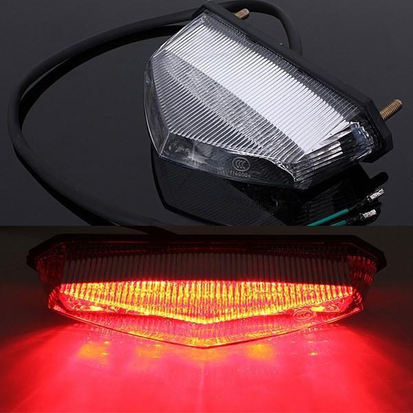 Motorcycle ATV Quad LED License Plate Rear Tail Stop Brake Indicator Light Lamp - $16.99
