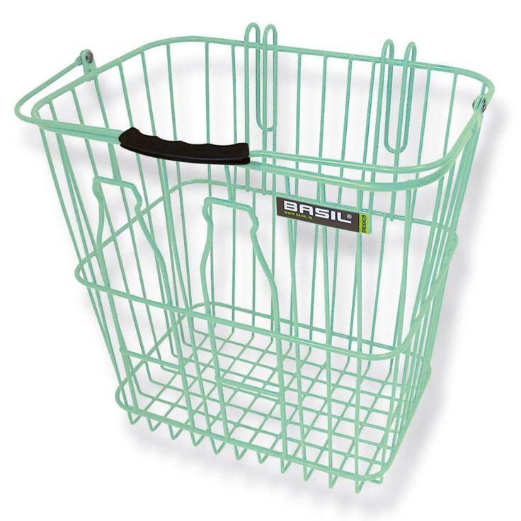 Basil Bottle Basket Fahrradkorb für Gepäckträger - seitlich - abnehmbar Farbe: grün