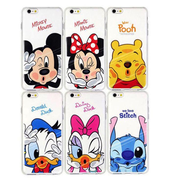 Funny Minnie Mickey Cartoon Soft TPU Case For Apple iPhone 6