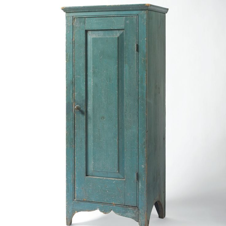 19th century PA pine small standing cupboard with single raised panel door  in original blue paint · Primitive Painted FurnitureCountry FurnitureAntique  ... - 465 Best Primitive Cupboards Images On Pinterest Cupboards