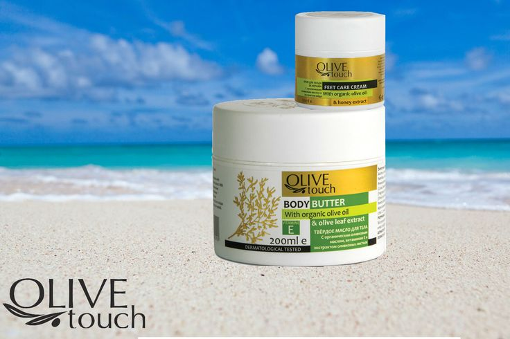 Olive Touch goes in Summer mood.... 1.Feet Care Cream Olive Touch  2.Body Butter with organic Olive Oil OLive Touch #olive touch #bodybutter #feetcream
