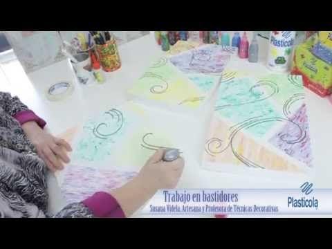 Trabajando sobre bastidores. Texturas y volúmenes para la decoración - YouTube