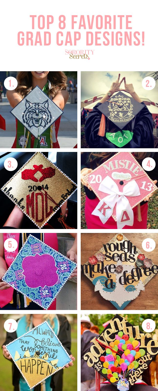 Our Top 8 Favorite Grad Cap Designs