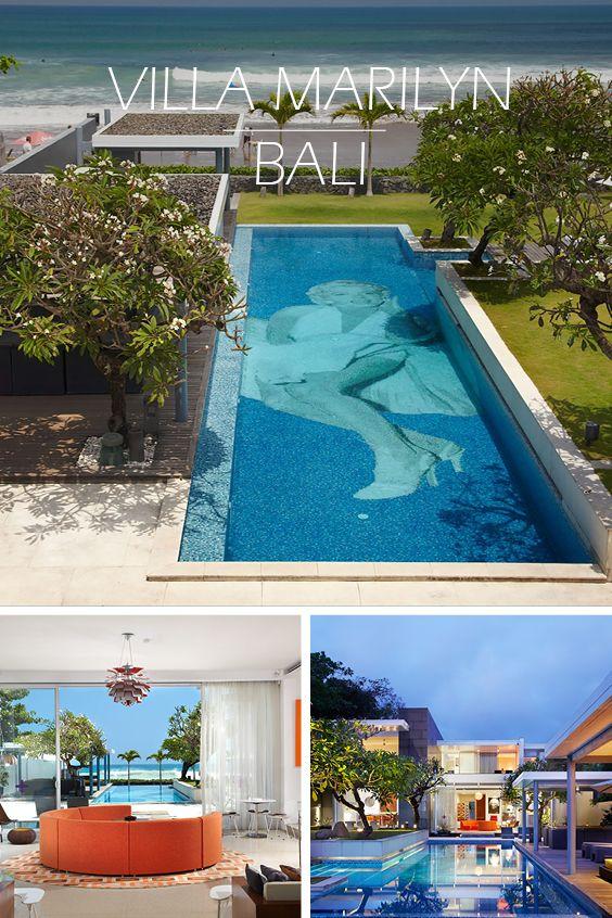 VILLA MARILYN | BALI - Design-Unikat direkt am Strand mit spektakulärem Pool und Pop-Art-Einrichtung