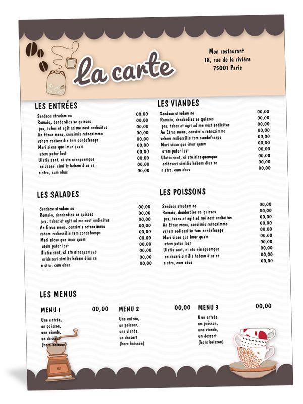 Exemples De Cartes De Restaurant Italiens