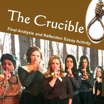 Microsoft Word 2007This activity requires students to compose a final essay and provide personal reflection after completing class discussion of Arthur Miller's The Crucible. There are three prompts from which to choose.  Each prompt has an analysis component followed by  relevant reflection questions.