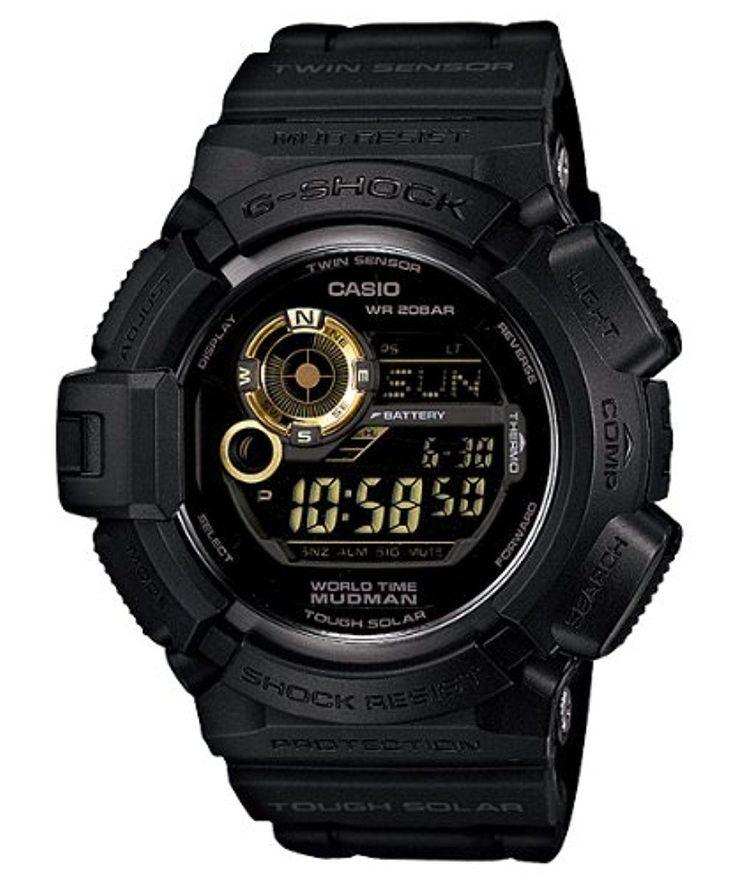 Casio Mens1 G Shock Digital Quartz Black Solar Watch G9300GB-1