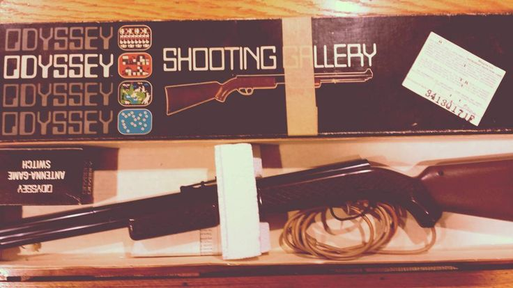 On instagram by gamecavejason #magnavoxodyssey #microhobbit (o) http://ift.tt/2h57vDn ODYSSEY Shooting Gallery gun. 1972. From befor a time you needed orange barrels on toy guns.  #magnavox #odyssey #shootinggallery #gun #toys #rifle #1972 #70s #retro