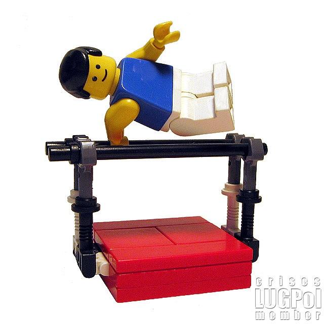 Gymnast (Lego) make for Lego village!!!