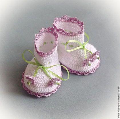 Для новорожденных, ручной работы. Ярмарка Мастеров - ручная работа Пинетки вязаные Нежность. Handmade.