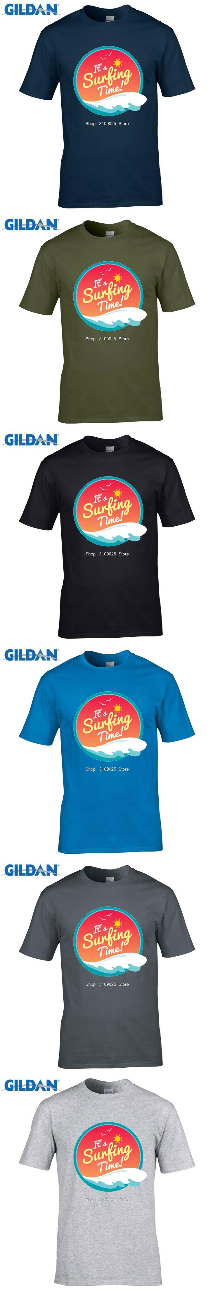 GILDAN customised t-shirts Summer Holiday Men's Short Sleeve Clothes Sunshine  Tree T-shirts Surffing Trooper T Shirts