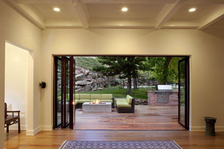 Modern Deck Decoration ideas Elegant accordion door
