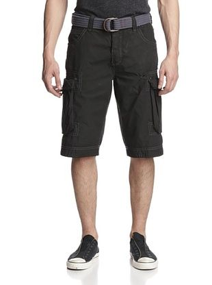 70% OFF Jet Lag Men's London City Belted Cargo Short (Black)