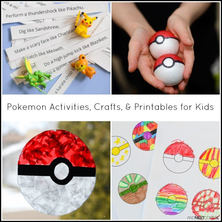 17 best images about a boy 39 s life of play and adventure on for Pokemon crafts for kids