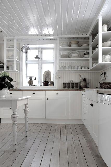 Open shelving! Lovely kitchen.