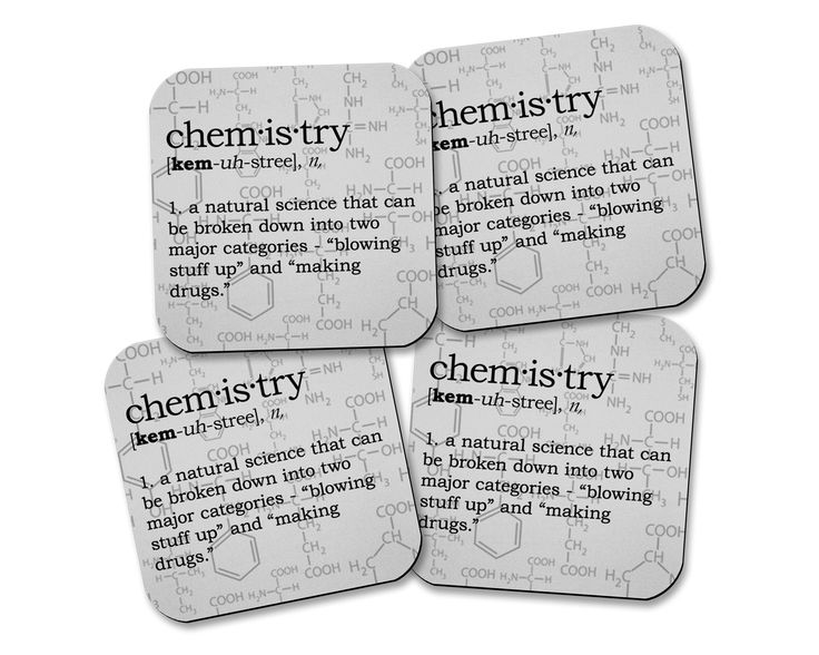 Chemistry Definition Neoprene Coaster Set